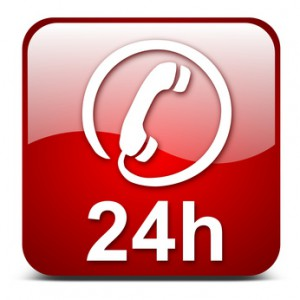 24h phone, vector button